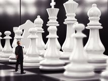 Match of chess royalty free stock image