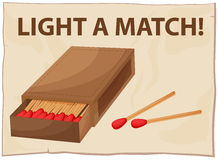 Match. Close up a box of matches Stock Photography