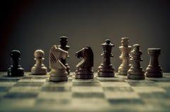 Match d'échecs photographie stock