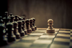 Match d'échecs Photos stock