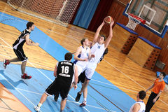 MATCH DE BASKET Images stock