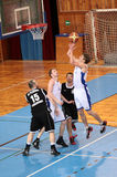 MATCH DE BASKET Photos stock