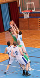 MATCH DE BASKET Image stock