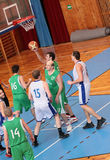 MATCH DE BASKET Images libres de droits