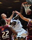 Match de basket de Kaposvar - de Salgotarjan Photographie stock libre de droits