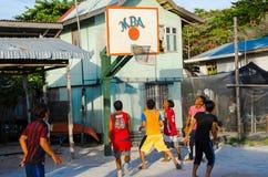 Match de basket local de village de MBA image libre de droits