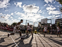 match de basket 3x3 Photos stock