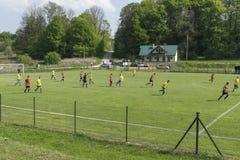 Match de football Photographie stock