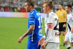Match de football Photo libre de droits