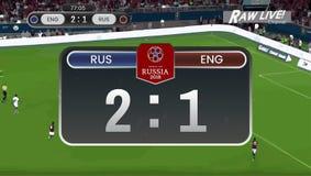 Match de football de coupe du monde vivant illustration libre de droits