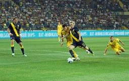 Match de football d'équipes nationales de l'Ukraine - de la Suède Images stock
