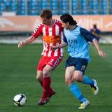 Match de football d'Otelul Galati - de Poli Iasi Photographie stock libre de droits