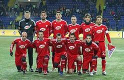 Match de football de l'UEFA de Metalist - de Debreceni photographie stock libre de droits