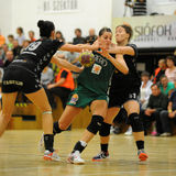 Match de handball de Siofok - de Gyor Photos libres de droits