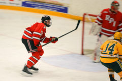Match de hockey de NCAA Photographie stock libre de droits