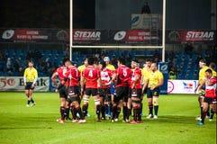 Match de rugby en Roumanie Photographie stock