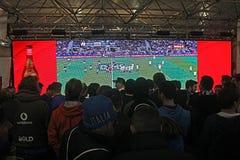 Match de rugby de Wathing Photo stock
