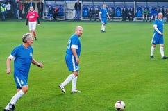 Match de vétérans d'équipe nationale et de FC Dnipro de l'URSS Photos stock