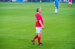 Match de vétérans d'équipe nationale de FC Dnipro et de l'URSS Photo stock