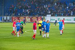 Match de vétérans d'équipe nationale de FC Dnipro et de l'URSS Photo libre de droits