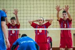 Match de volley Photo stock
