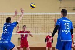 Match de volley Photos stock