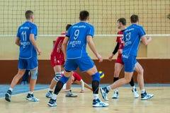 Match de volley Image libre de droits