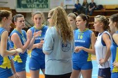 Match de volley de Kaposvar - d'Eger Images libres de droits