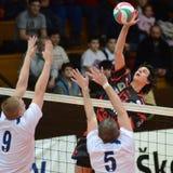 Match de volley de Kaposvar - de Kazincbarcika photo stock