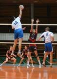 Match de volley de Kaposvar - de Kazincbarcika photo libre de droits