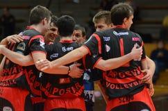 Match de volley de Kaposvar - de Kazincbarcika photographie stock libre de droits