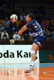 Match de volley de Kaposvar - de Kazincbarcika image stock