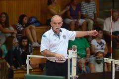 Match de volley de Kaposvar - de Kazincbarcika images stock