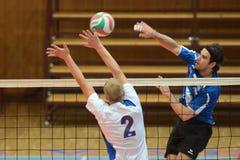 Match de volley de Kaposvar - de Kazincbarcika Images libres de droits