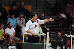 Match de volley de Kaposvar - de Kecskemet Images stock