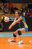 Match de volley de Kaposvar - de Szolnok Images stock