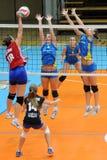 Match de volley de Kaposvar - de Szolnok Image libre de droits