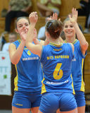 Match de volley de Kaposvar - de Tatabanya Photo stock