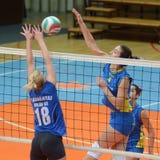 Match de volley de Kaposvar - de Tatabanya Photo libre de droits