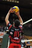Match de volley de Kaposvar - de Zagreb Images stock