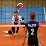 Match de volley entre Kaposvar et Palota VSN image stock