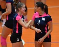 Match de volley entre Kaposvar et Palota VSN images stock