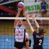 Match de volley entre Kaposvar et Palota VSN image libre de droits