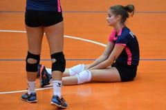 Match de volley entre Kaposvar et Palota VSN photographie stock