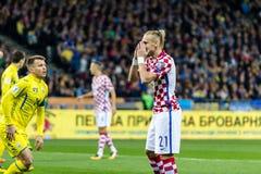 Match der Fußball-Weltmeisterschaft 2018 Ukraine - Kroatien lizenzfreie stockfotos
