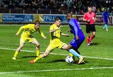 Match européen d'Under-21 Chamionship Ukraine - Pays-Bas Images stock