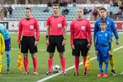 Match européen d'Under-21 Chamionship Ukraine - Pays-Bas Photographie stock libre de droits