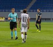 Match för UEFA-Europaliga mellan FC Olimpik vs FC-PAOK Royaltyfria Foton