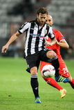 Match för UEFA-Europaliga mellan PAOK vs ACF Fiorentina Royaltyfria Bilder