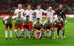 Match för världscupRusia 2018 kvalifikation Polen - Kasakhstan Royaltyfria Foton